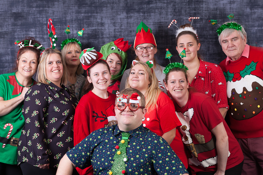 Friary Care staff at the Christmas party