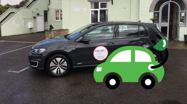 Friary Care Electric Car and charging point