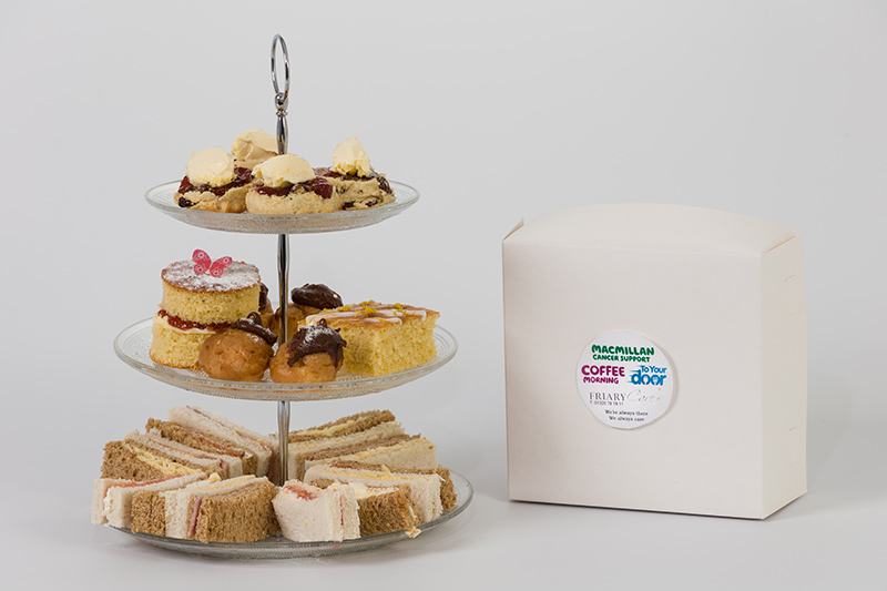 Macmillan coffee morning tea and cakes - delivered to your door !