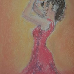 Pastel drawing by Loraine