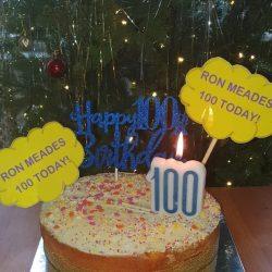 Celebrating 100 years - birthday cake